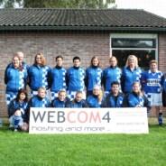 WEBCOM4 sponsort het dames elftal van v.v. Damacota